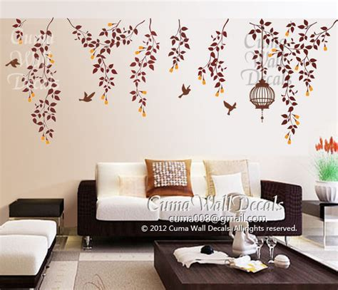 Photo Realistic Wall Murals tree wall decals nature bird wall decal vinyl nursery by cuma