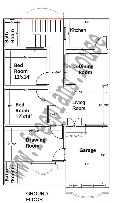 housr plans 35 215 55 feet 178 square meters house plan