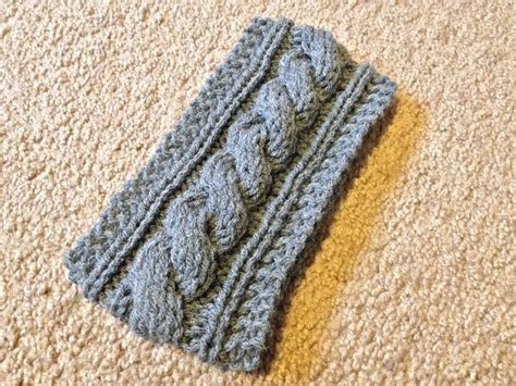 how to sew seams knitting cable knit headband pattern bind sew seams together