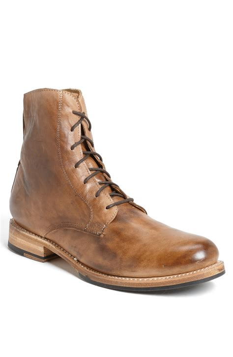 bedstu mens boots bed stu s bolter plain toe boot in brown for