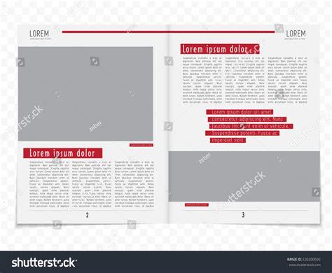vector layout magazine layout magazine vector stock vector 220200592 shutterstock