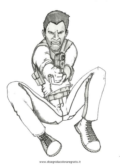 Uncharted 4 Coloring Pages by Disegno Uncharted 6 Personaggio Cartone Animato Da Colorare