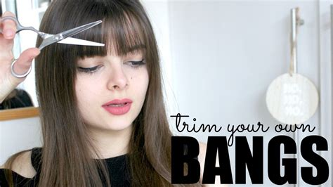 pictures how to make bangs how to trim your own bangs youtube