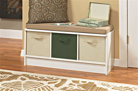 closetmaid bench white closetmaid 1569 cubeicals 3 cube storage bench white