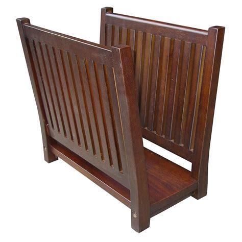 Wooden Magazine Racks ore international wooden magazine rack by oj commerce