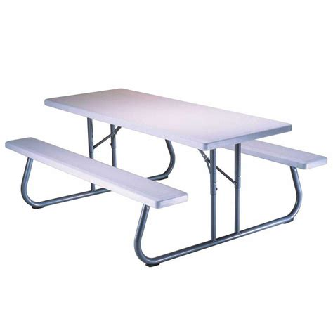 lifetime tables home depot lifetime 57 in x 72 in folding picnic table 80215 the