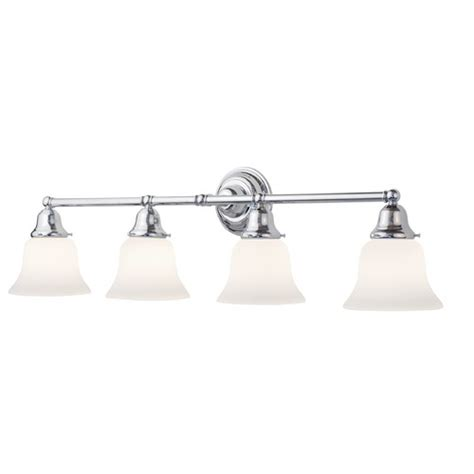 Bathroom Vanity Light Shades Four Light Bathroom Vanity Light With Bell Shades 674 26 G9110 Kit Destination Lighting