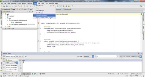 apk min نحوه تهیه خروجی از برنامه در برنامه نویسی اندروید آموزش برنامه نویسی