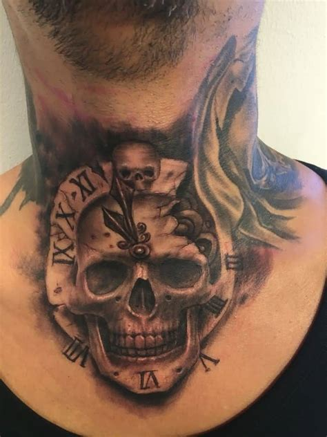 skull neck tattoo designs 60 most adorable skull design ideas