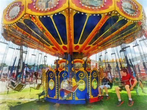 swing ride carnival super swing ride photograph by susan savad