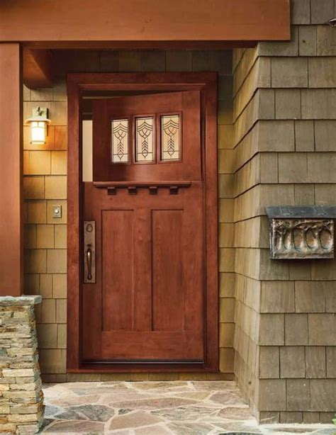 Jeld Wen Exterior Door by Jeld Wen 383 Cherry Craftsman Door Cherry Finish