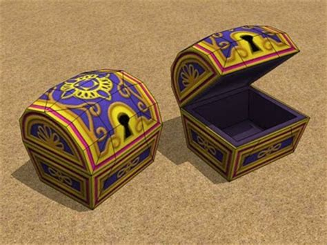 Treasure Chest Papercraft - kh2 treasure chest papercraft