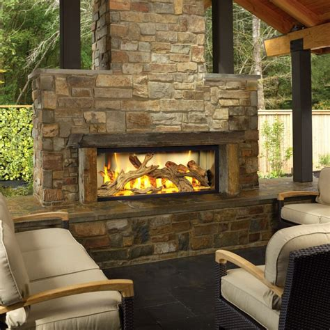 outdoor fireplace logs
