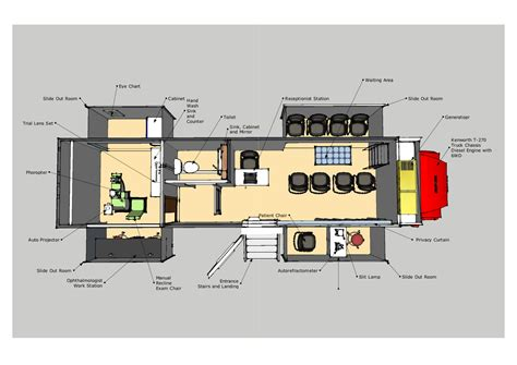 mobile clinic floor plan mobile ophthalmology clinic 30 9m mobile healthcare