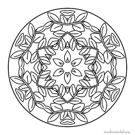 tattoo designs you can print icolor quot mandalas quot leaves 600 215 600 icolor quot mandalas