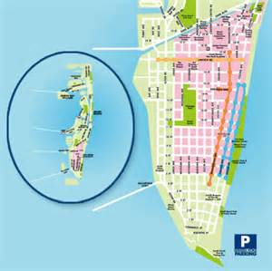 Map Miami by Miami Beach Map Tourism Fiji