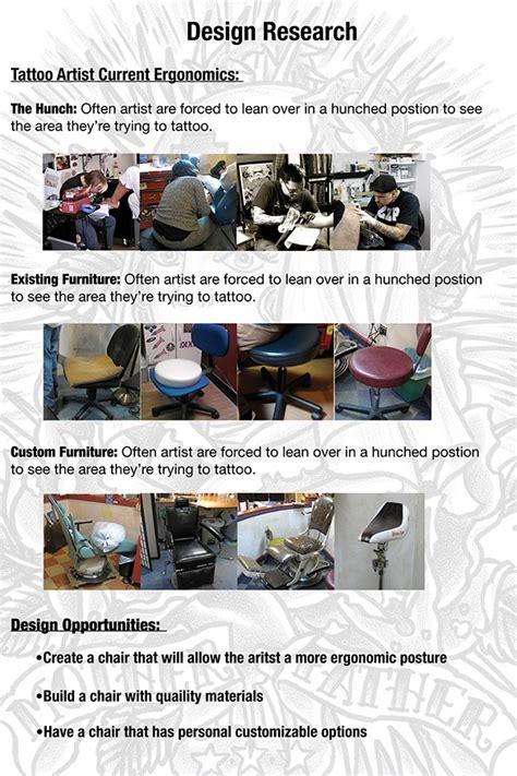 senior layout artist ergonomic tattoo chair on behance