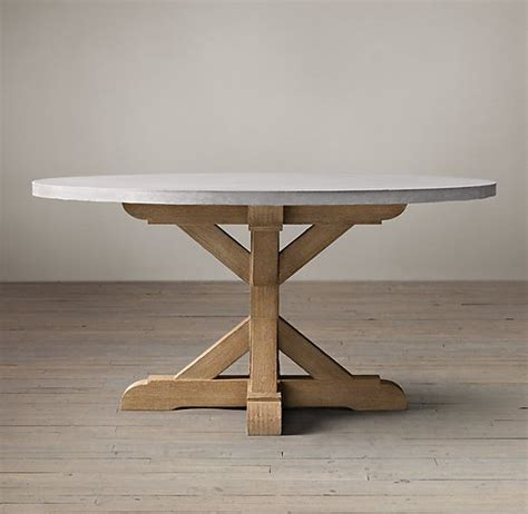salvaged wood weathered concrete x base dining
