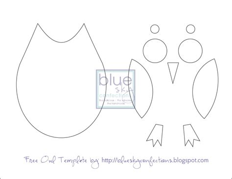 printable owl cut outs owl template printable just cut these out for the kids to
