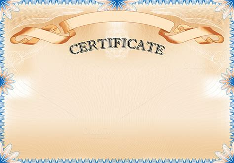 landscape design certificate vintage certificate with ribbon stationery templates on