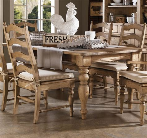 farmhouse table and chairs set 7 dining set with farmhouse leg table and ladderback