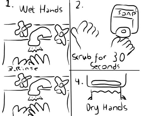 free coloring pages of handwashing and germs 16919