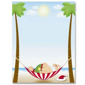 Home border papers designed border papers tropical santa border papers