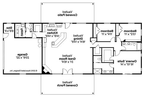 Ranch Home Plan by 3 Bedroom Ranch House Floor Plans Ranch House Plan 73301