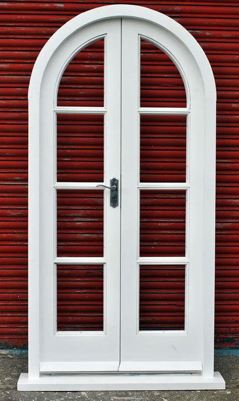 Arched french double doors   Video and Photos
