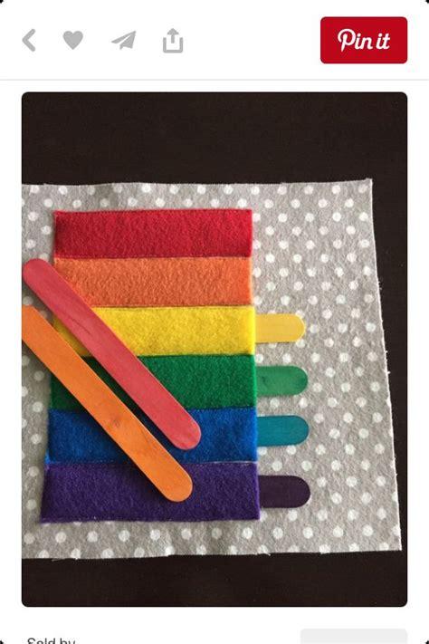 libro stik rainbow stick pockets busy book ideas libro sensorial libros de fieltro y libros