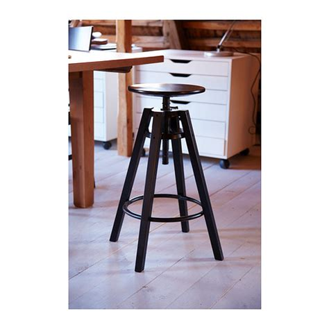 high bar stools ikea dalfred bar stool black 63 74 cm ikea