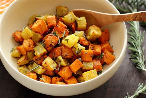how to cook purple yam in the oven paleo roasted rosemary sweet potatoes recipe paleo newbie