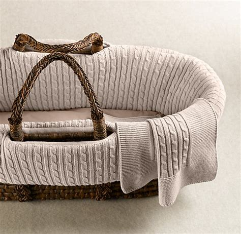 moses basket bedding cable knit moses basket bedding