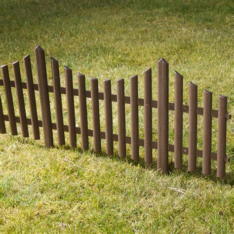 Landscape Edging Fence Plastic Fencing Lawn Grass Border Path Edging Fancy Small