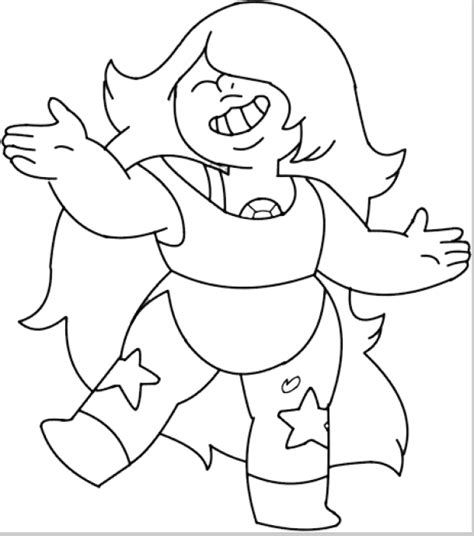 coloring page of steven universe free coloring pages of amethyst