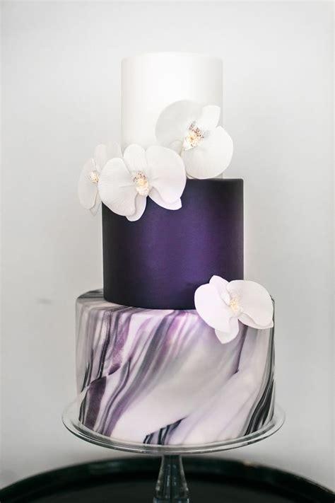 unique  elegant marble wedding cake ideas