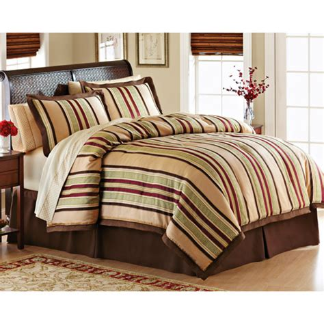 better homes bedding better homes and gardens foulard stripe bed in a bag