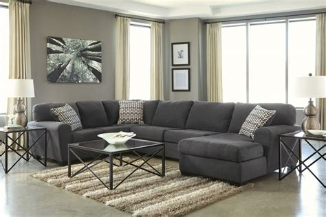 laf sofa rooms to go sorenton slate 3 pc laf sofa sectional 28600 66 34 17