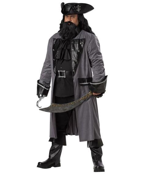 blackbeard costume for men adult blackbeard the pirate plus size costume pirate