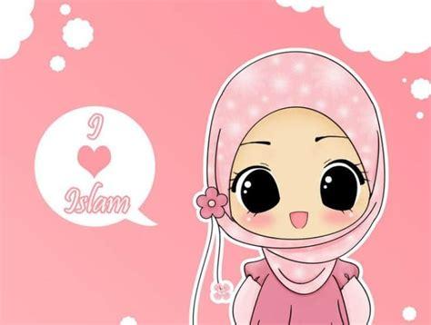 kata kata gambar kartun muslimah  cadar kata kata