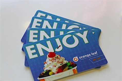 Orange Leaf Gift Card - orange leaf yogurt gift card dominos chicken wings
