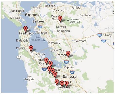 zip code map bay area bay area zip codes map