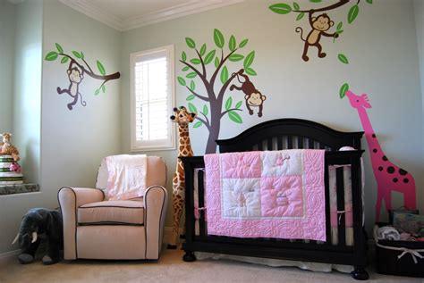 Baby M S Jungle Themed Nursery Project Nursery Nursery Jungle Decor