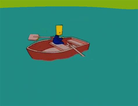 row the boat gif bart sells his soul gifs find share on giphy