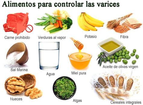alimentacion  ayuda  tratar las varices  venas varicosas blog de farmacia