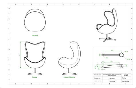 Single Line Floor Plan by Jacobsen Egg Chair Blueprint Cad Surfer Blog