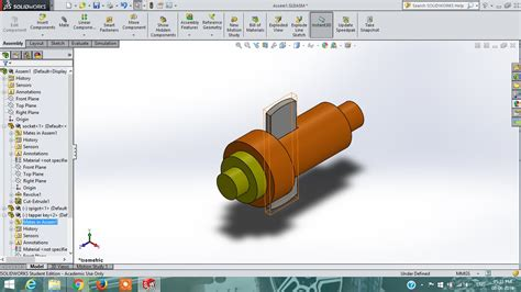 solidworks tutorial assembly drawing solidworks tutorial cotter joint part drawing