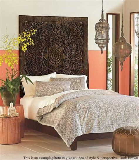 kopfteil lotus balinese wood wall teak wood decor hanging decorative