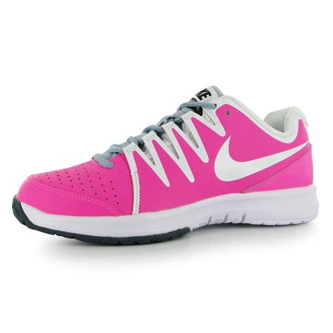 nike vapor court tennis shoes trainers womens pink wht