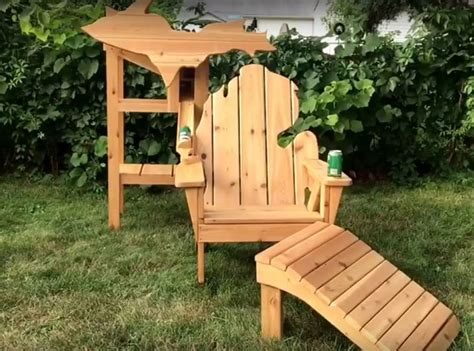 dispensing chair plans michigan shaped adirondack chair is a custom